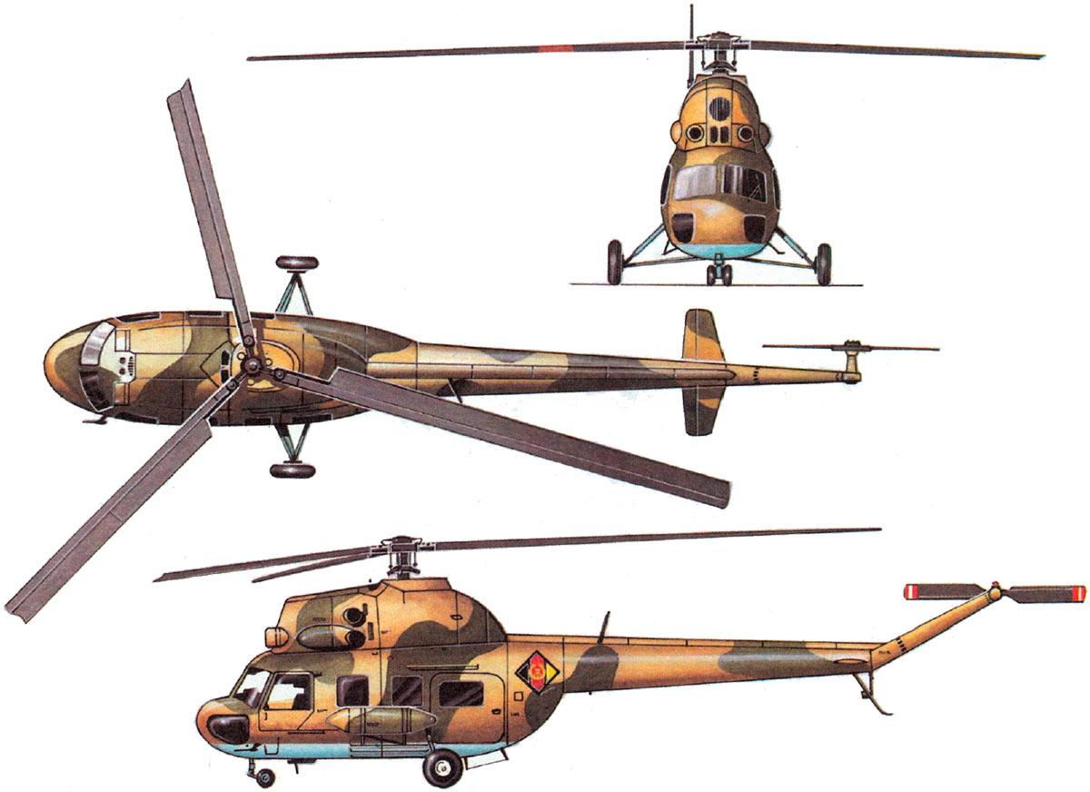 Общий вид легкого вертолета Ми-2