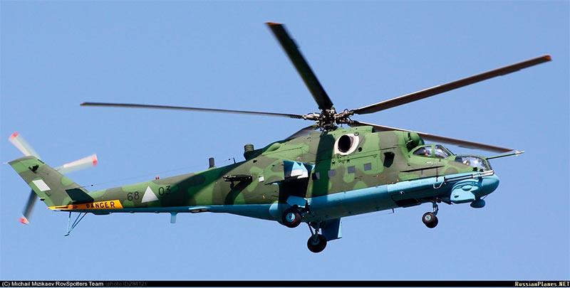 Боевой вертолет Ми-25/Ми-35 - экспортный вариант Ми-24