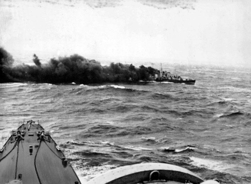 8 Апреля 1940 года британский эсминец Глоуворм