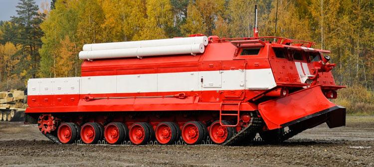 Специальная пожарная машина СПМ - родственник Т-80