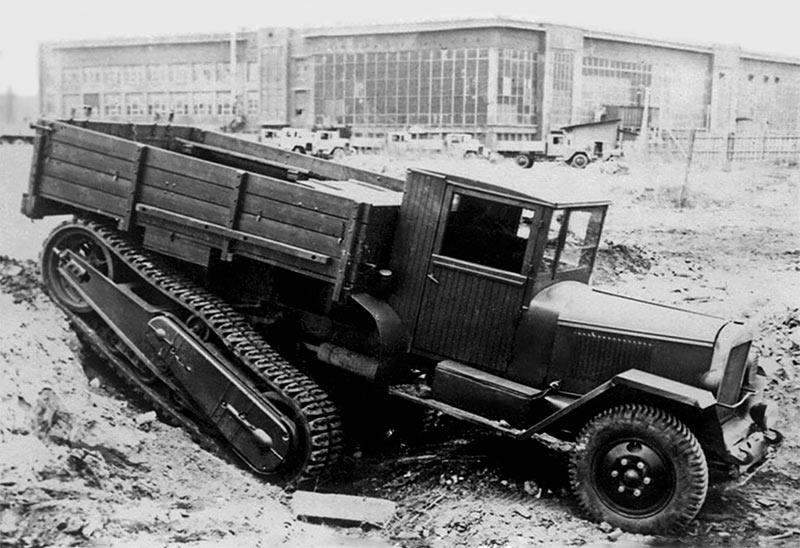 Прародитель ТБ-42, полугусеничный грузовик ЗиС-42