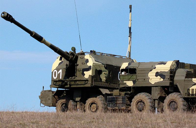 САУ комплекса береговой обороны А-222 «Берег». 130-мм.
