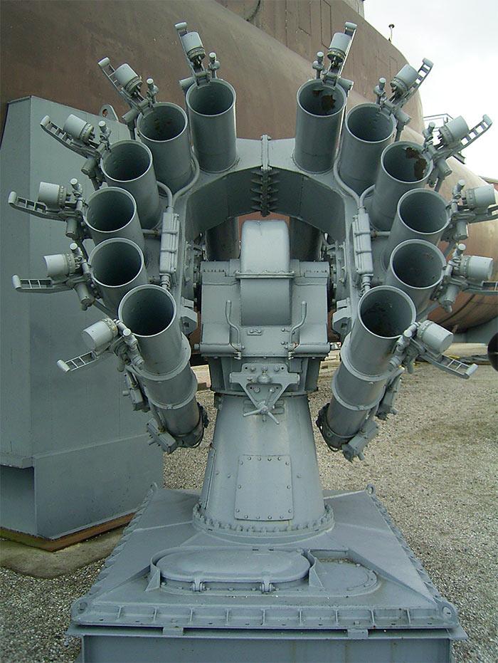 Советская корабельная реактивная бомбометная установка РБУ-6000 (Смерч-2)