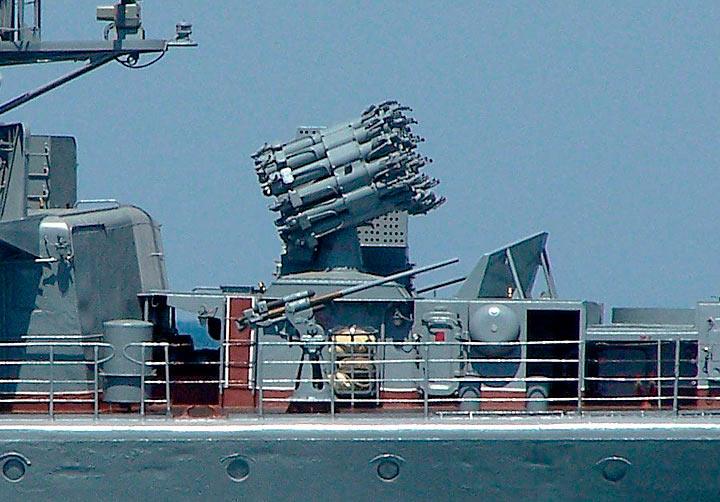РБУ-6000 на борту сторожевого корабля