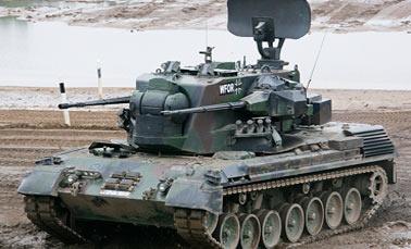 Немецкая Зенитная самоходная установка ЗСУ Гепард