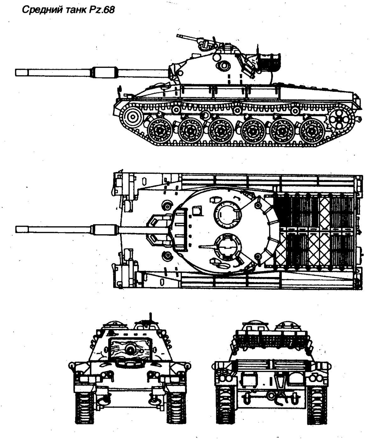 Чертеж танка Panzer 68