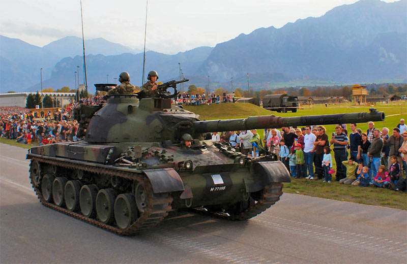 Швейцарский средний танк Panzer 68
