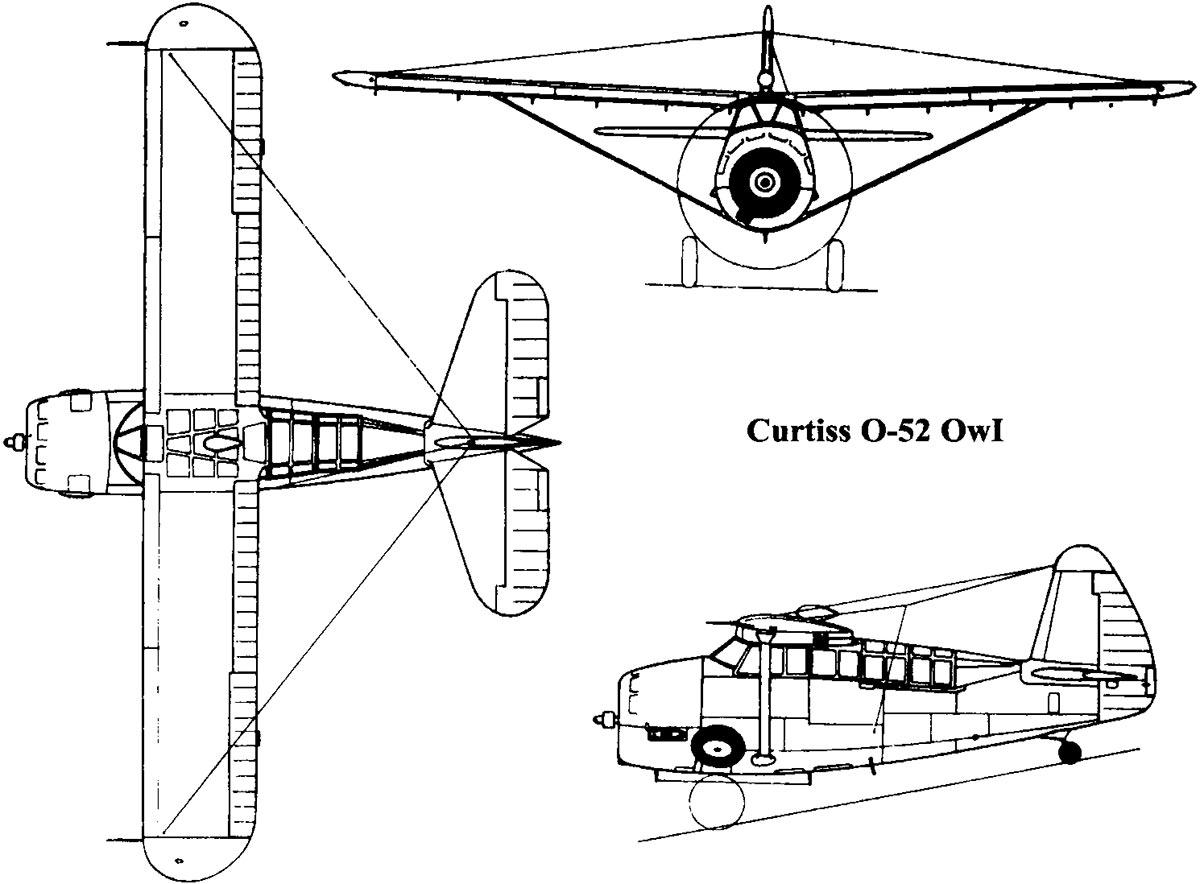 Чертеж разведчика Кертис O-52 «Оул»