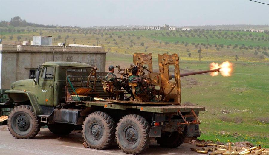 C-60 приспособленная на шасси грузовика «Урал». Авторы занятной самоделки - сирийская арабская армия