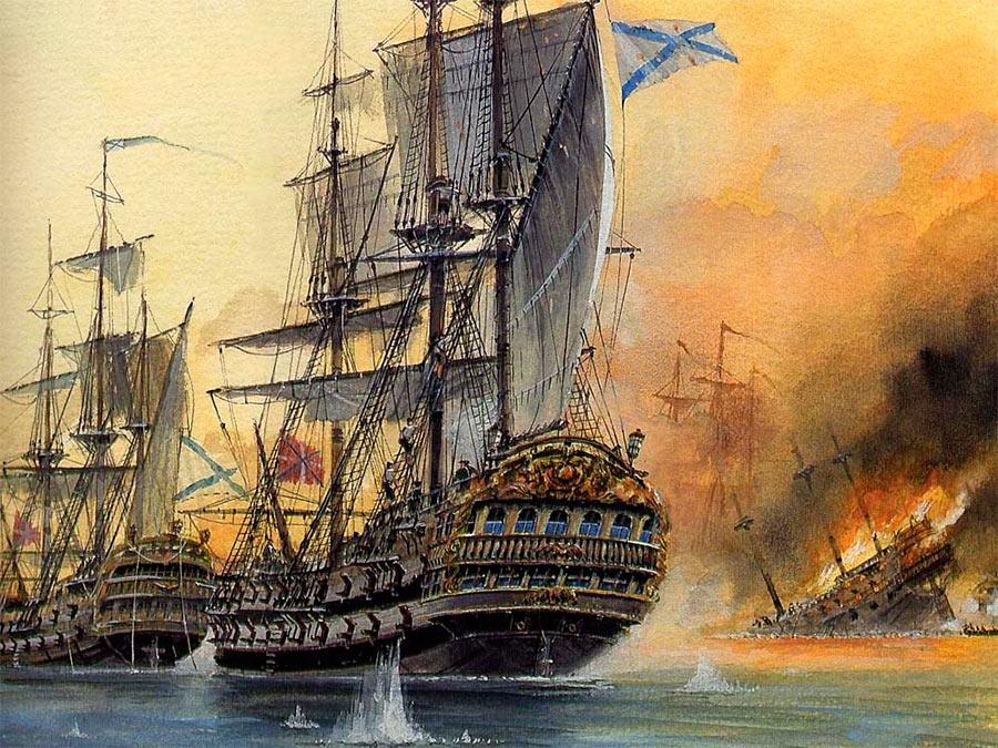 Корабли петровских времен
