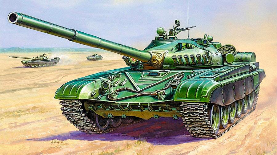 Основной боевой танк Т-72 первых модификаций