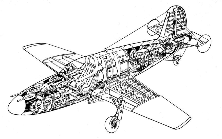 Внутреннее устройство истребителя БИ-1