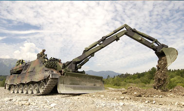 Специальные машины на базе немецкого танка «Леопард I»