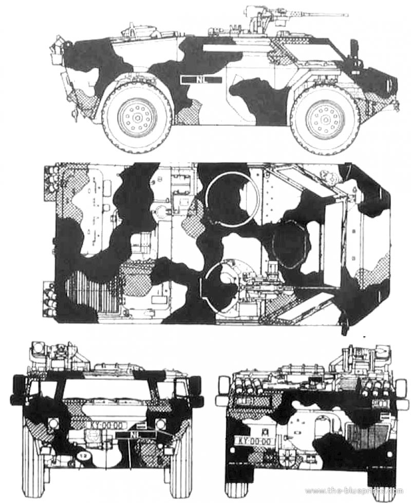 Рисунок-чертеж бронеавтомобиля «Fennek»