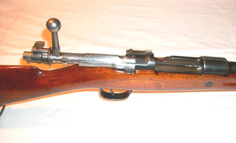 Затвор винтовки Mauser 98 в разряженном положении