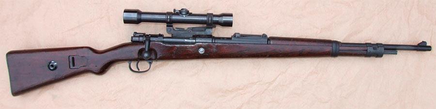 Винтовка Mauser 98 со снайперским прицелом
