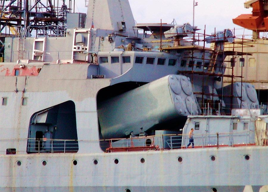 Установка УРК-5 «Раструб» на корабле проекта 1155