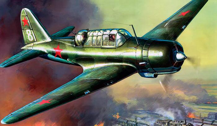 Ближний бомбардировщик Су-2 (СССР)