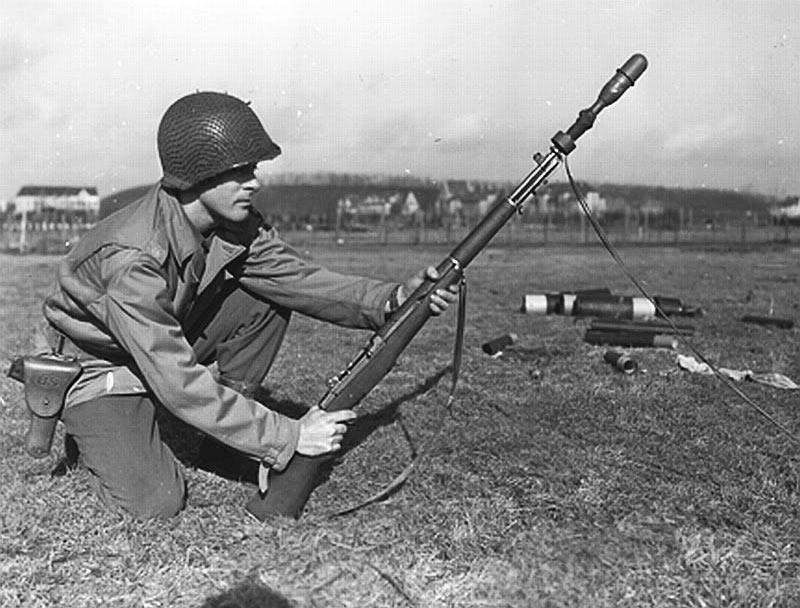 Самозарядная винтовка M1 «Garand» с ружейным гранатометом