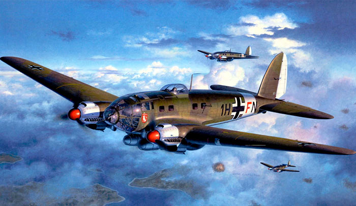 Бомбардировщик Heinkel He.111 (Германия)