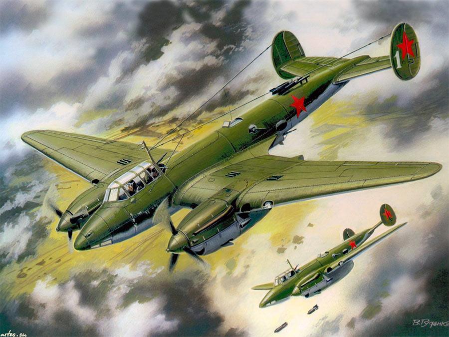 Бомбардировщик Пе-2 очень «фотогеничен». Не удивительно, что его очень любили художники и фотографы