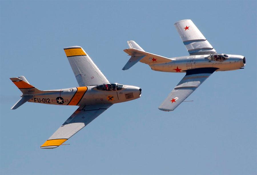 F-86 «Сейбр» и МиГ-15