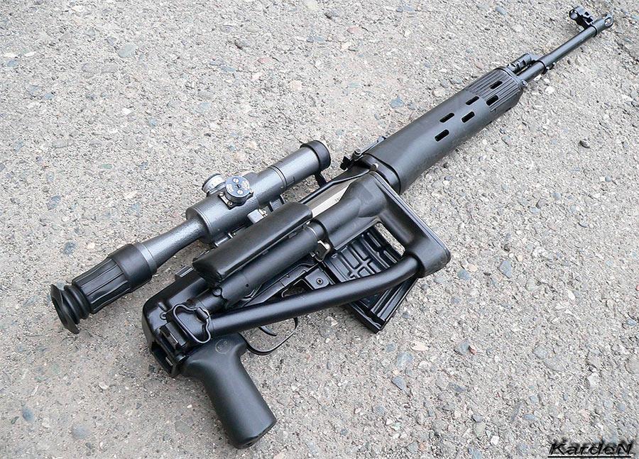 СВДС - снайперская винтовка со складным прикладом