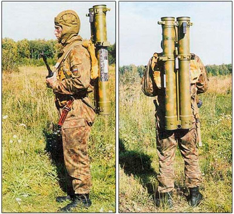 Реактивный пехотный огнемет РПО-А «Шмель» в походном положении