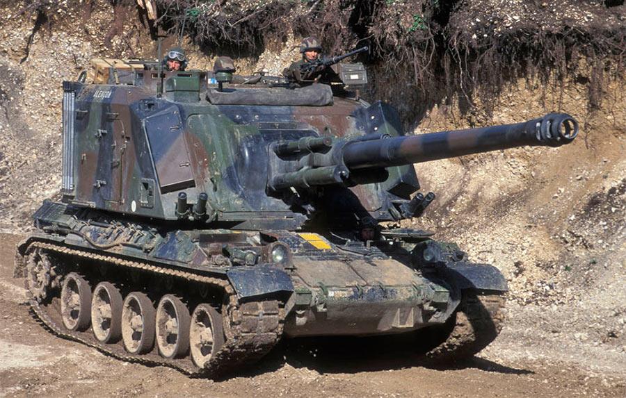 Самоходная артиллерийская установка GCT 155 mm на базе танка AMX-30
