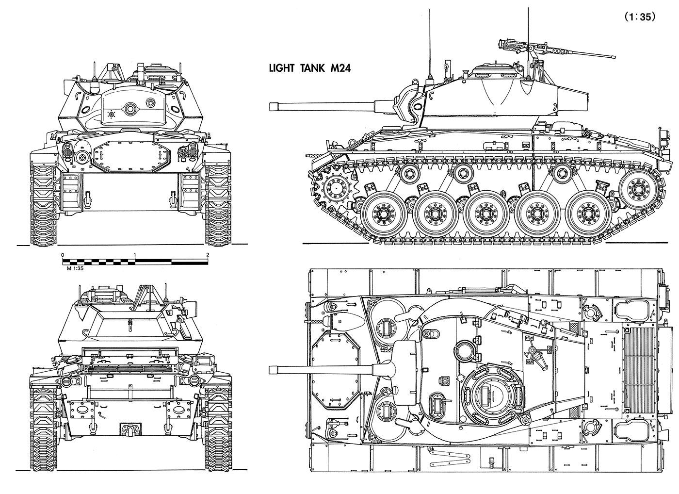 Чертеж танка M24 «Чаффи»