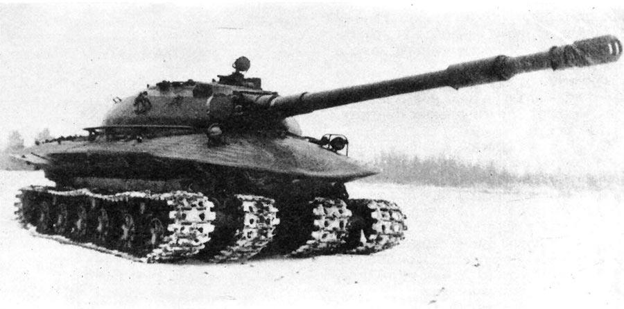 Тяжелый танк «Объект 279» на испытаниях.