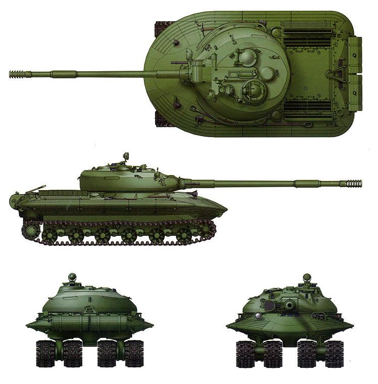 Схема тяжелого танка «Объект 279»