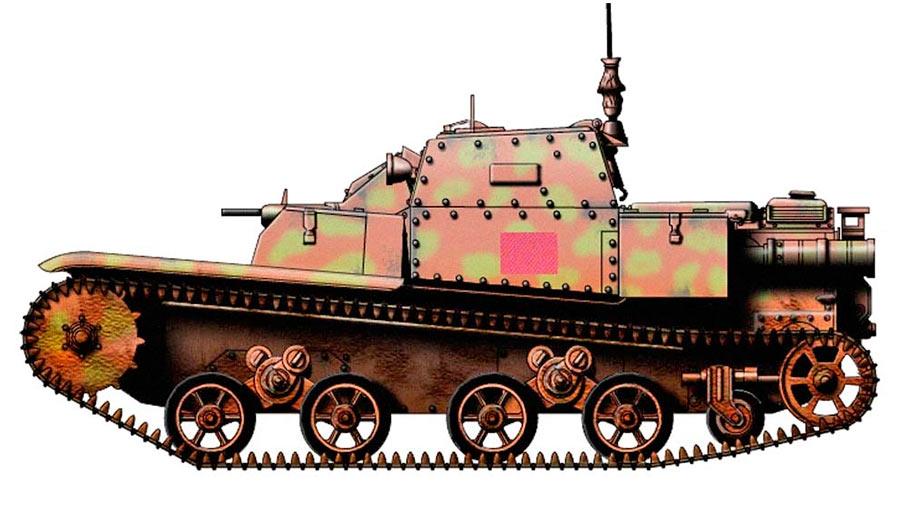 ТанкеткиCV3/35 с новой ходовой частью