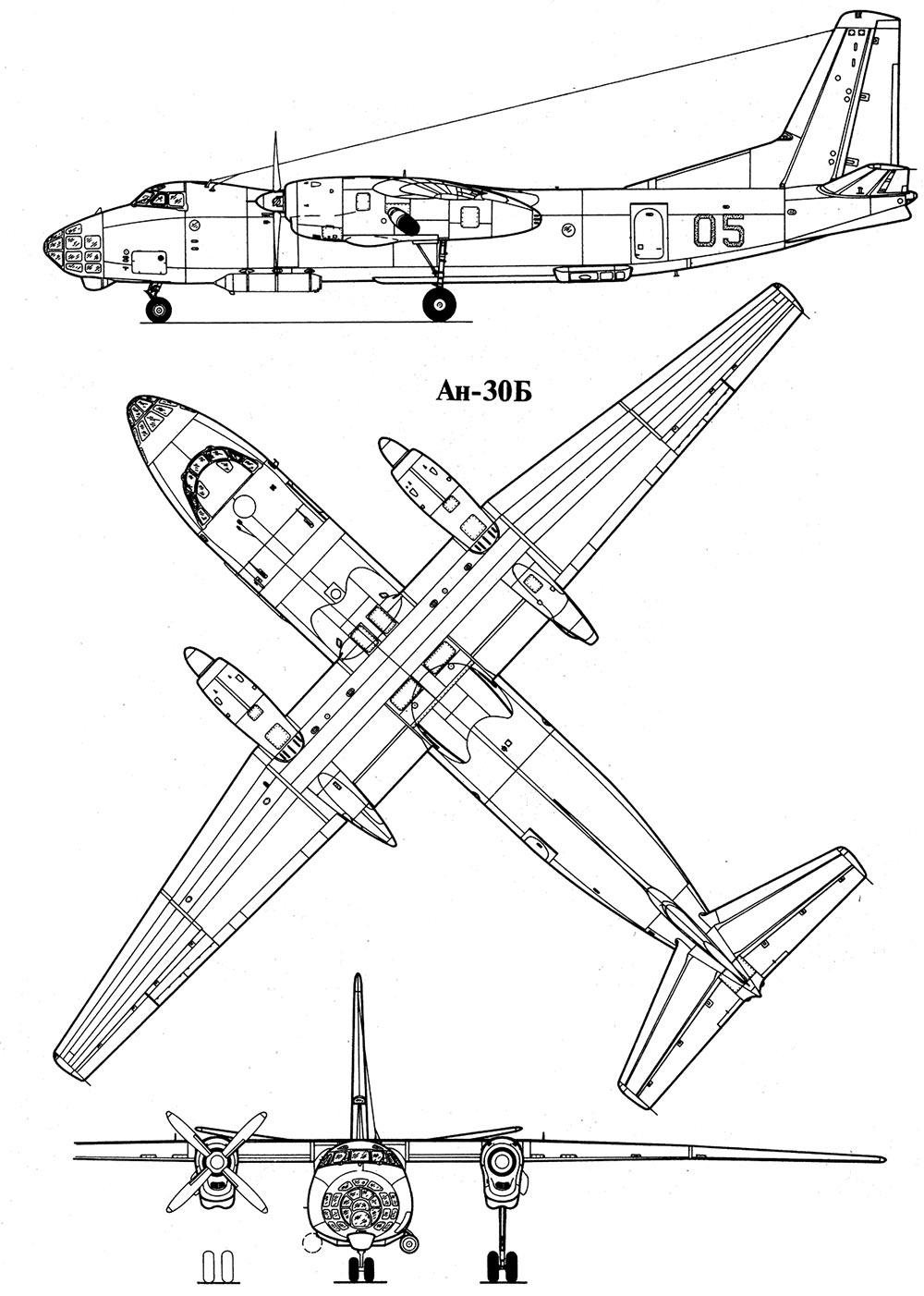 Чертеж самолета Ан-30