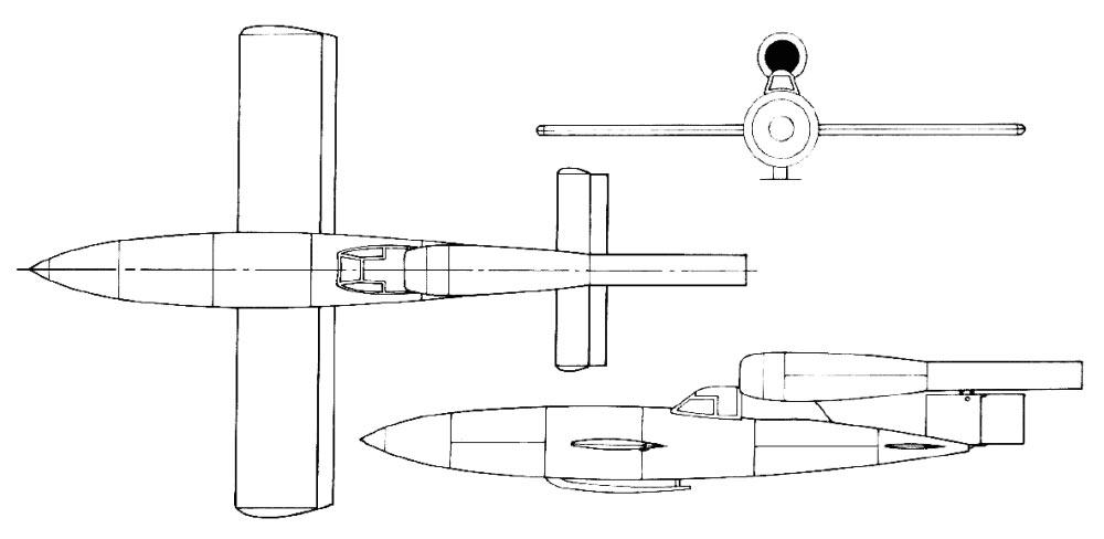 Чертеж самолета-снаряда Fi.103 (Фау-1, V-1)