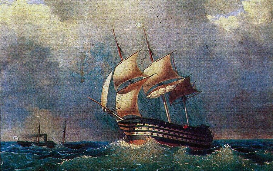 Черноморский 120-пушечный линейный корабль «Париж», И.К. Айвазовский
