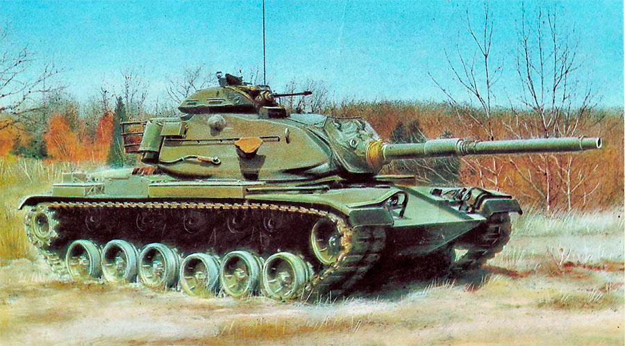 Американские танки семейства M60 - первые ОБТ армии США