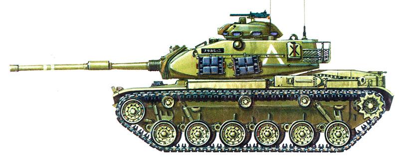Танк M60, вид сбоку