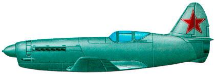 Истребитель И-250, вид сбоку