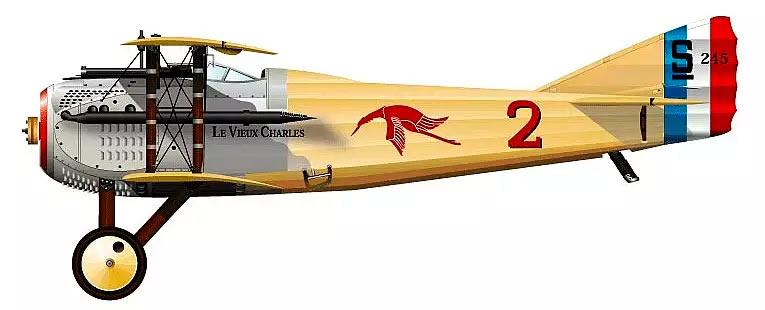 истребитель SPAD S.7, вид сбоку