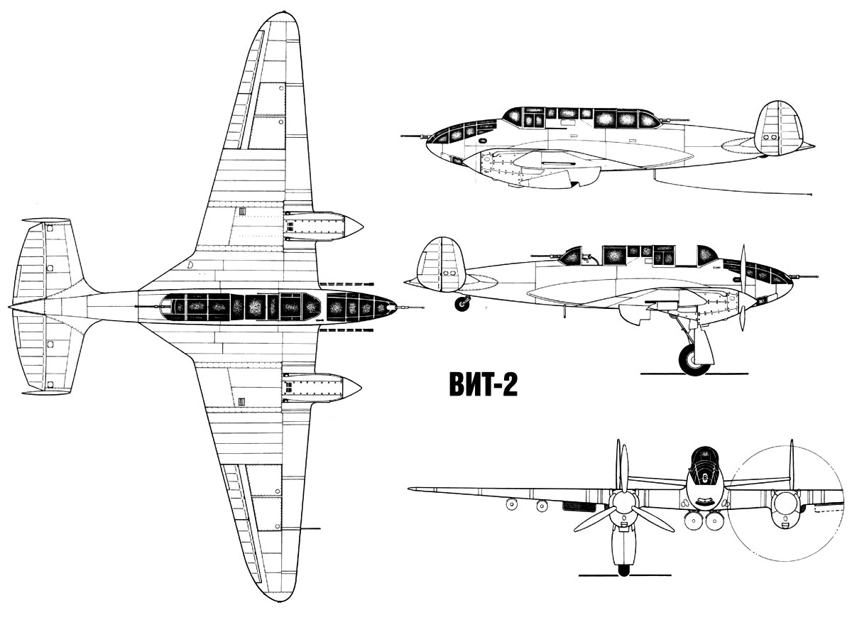 Схема (чертеж) самолета ВИТ-2