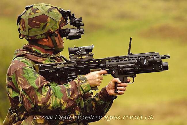 Автомат SA-80 с подствольным гранатометом