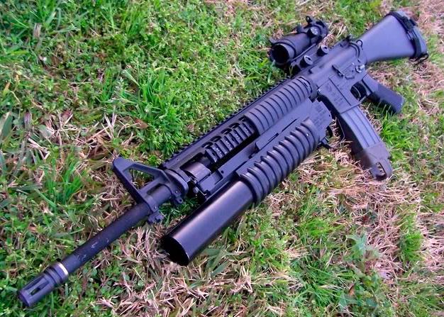Штурмовая винтовка M16А3 с подствольным гранатометом.