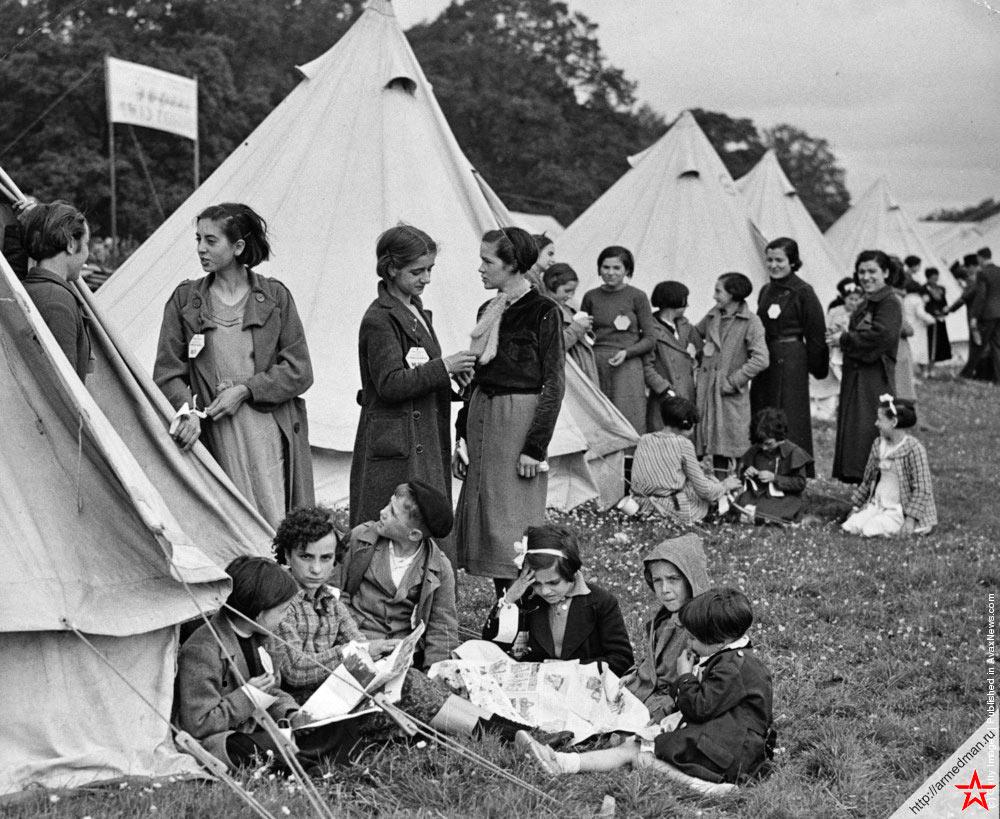 Лагерь для испанских беженцев на территории Великобритании