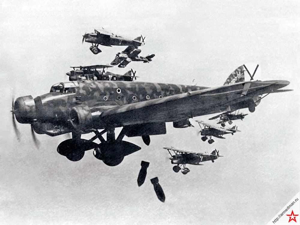 Франкистский бомбардировщик Savoia Marchetti SM.81