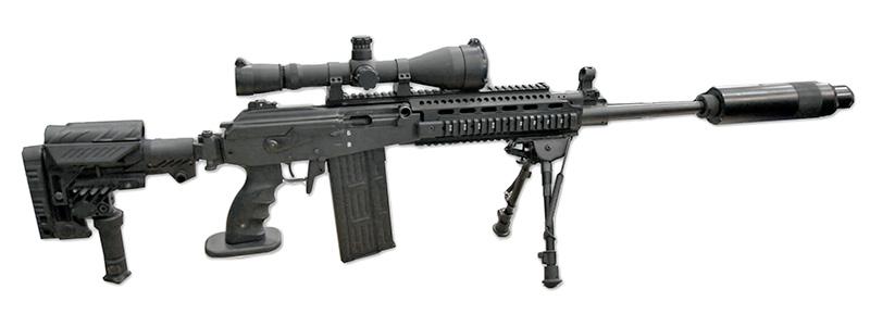 Galatz - самозарядный снайперский карабин на базе штурмовой винтовки Galil
