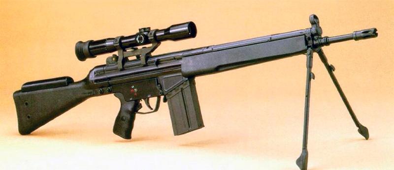 Немецкая штурмовая винтовка H&K «Gewehr-3» в снайперском варианте