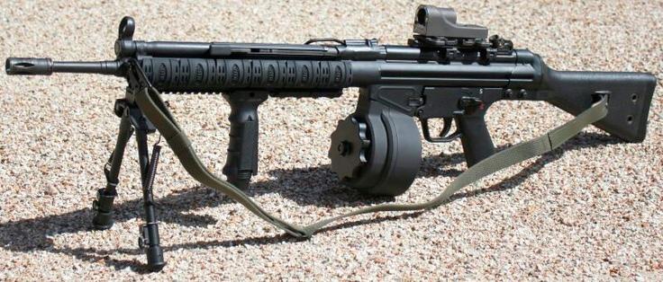 Немецкий единый пулемет HK-21 на базе штурмовой винтовки H&K «Gewehr-3»
