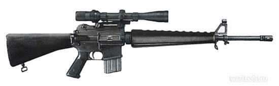 Снайперская модель M16A1 Model 655 с утолщенным стволом