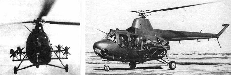 Вертолет Ми-1 с 4-я ПТУР «Фаланга»